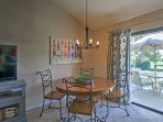 Come dinnertime, settle down on this dining table for a home-cooked meal.
