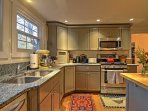 The chef of the group will love the deep double sink and large center island.