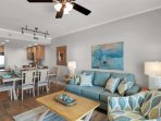 Plenty of seating in this spacious living room