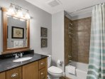 3rd bathroom with tub/shower combo!