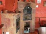 Detalle del horno y chimenea