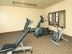 Break a sweat in the club house exercise room