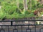 Terrasse et vue sur le jardin de l'Evêché