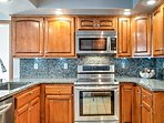 The chef in your group will have no trouble preparing all their specialties in this upgraded kitchen!