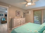 Both bedrooms feature king-sized beds and ceiling fans for those warmer nights.