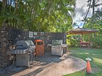 Grill up a traditional Hawaiian barbecue feast on the outdoor deck.