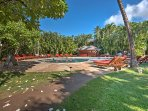 Claim a lounge chair by the pool after a day at Whalers Village or Kaanapali Beach!