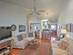 You'll love the open layout of the main space.