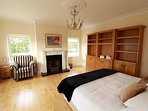 Super king spacious bedroom, period features, ample storage