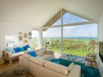 Beautiful Cliff Top Beach House with dramatic views of the sea and rolling hills and countryside