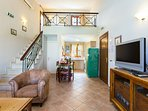 Stairs from the living room will lead you to our attic with one semi double bed