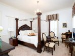 Large guest room in the Sion Bass Home