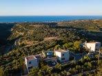Set in a scenic spot on the edge of Prassano gorge & overlooking the Cretan sea