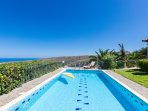 35 m² swimming pool with minimum depth: 0.75 m & Maximum depth: 1.3 m