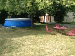Pool, garden and cottage