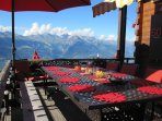 Al fresco dining in the summer with spectacular views!