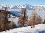 Ski above the clouds in the 4 Valleys in Switzerland
