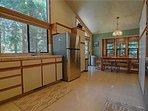 Fridge,Refrigerator,Floor,Flooring,Dining Room