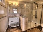 Enjoy the functional elegance, and modern design of the bathrooms. The shower is an experience to remember