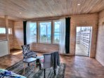 This jewel box of a suite includes private deck access
