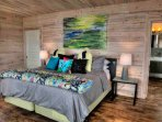 . Colorful thoughtful design meet natural surfaces in this Master suite.