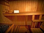 Sauna compliments Spa experience.