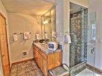 An elegant tile bath.