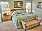 King-size comfort in the master bedroom.