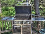 Gas grill for your enjoyment.