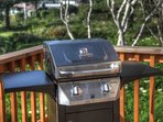 Enjoy a great view as you use gas grill.