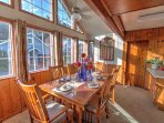 Sunlight and vaulted ceilings make your meal special