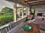 An open floor-plan invites both light and enjoyment.