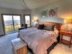 Master bedroom with ocean view deck.