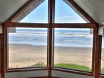 The compelling view from the master bedroom loft.
