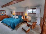 Comfortable master suite with a fabulous view and plenty of space for relaxation