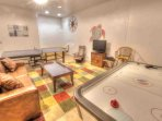 Game room with Ping Pong, Foosball, and air hockey