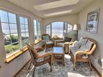 Detached Apartment sun-room with a magnificent ocean view.