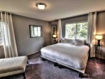 Both master suites have King-size beds, and private baths.