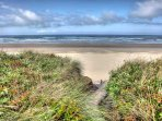Just steps to the private beach access, and miles of sanddy beach.