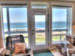 The main living level of the home is upstairs, for the very best of views.