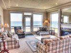 Two comfortable great rooms for all to enjoy the fantastic views.
