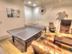 Game room with Ping Pong, Foosball  and TV Lounge.