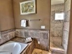 Luxury with jetted tub and walk-in shower
