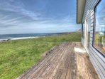 The sunny deck is the best place for whale watching you could imagine