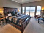 Beautiful classic furnishings in the ocean view bedroom.