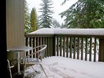 Enjoy breathing in the mountain air from your private balcony.