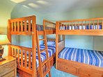 2 twin-over-twin bunk beds are great for the kids!