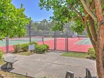 Challenge your loved ones to a match on the community tennis courts.