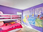 Kids are sure to love the princess-themed room.