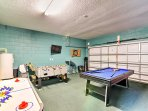 Challenge your companions to a friendly game of pool or foosball.